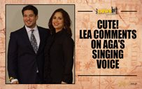 Cute! Lea comments on Aga's singing voice