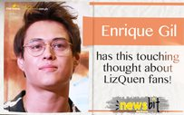 Enrique Gil has this touching thought about LizQuen fans!