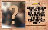 Which legendary foreign actor did the cast of 'Ang Dalawang Mrs Reyes' coincidentally meet?