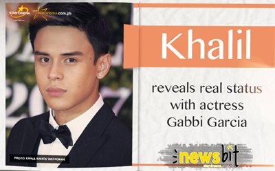 Khalil reveals real status with actress Gabbi Garcia