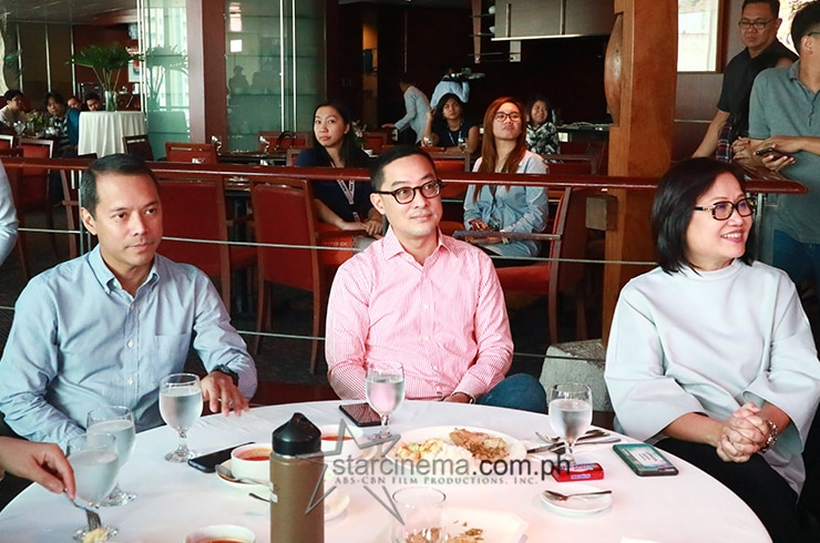 The bosses were also present! ABS-CBN Chairman Mark Lopez, President and CEO Carlo Katigbak, and Star Cinema Managing Director Inang Olive Lamasan.