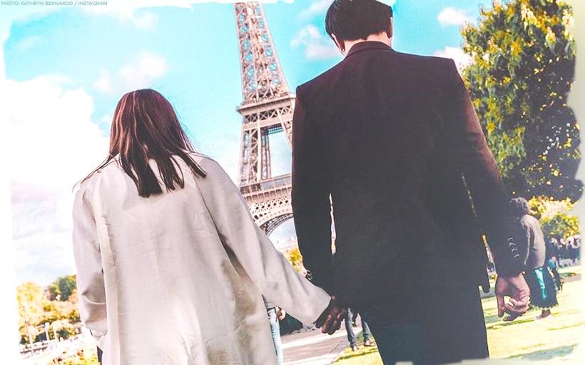 Kathryn and Daniel enjoy the sights of Paris!