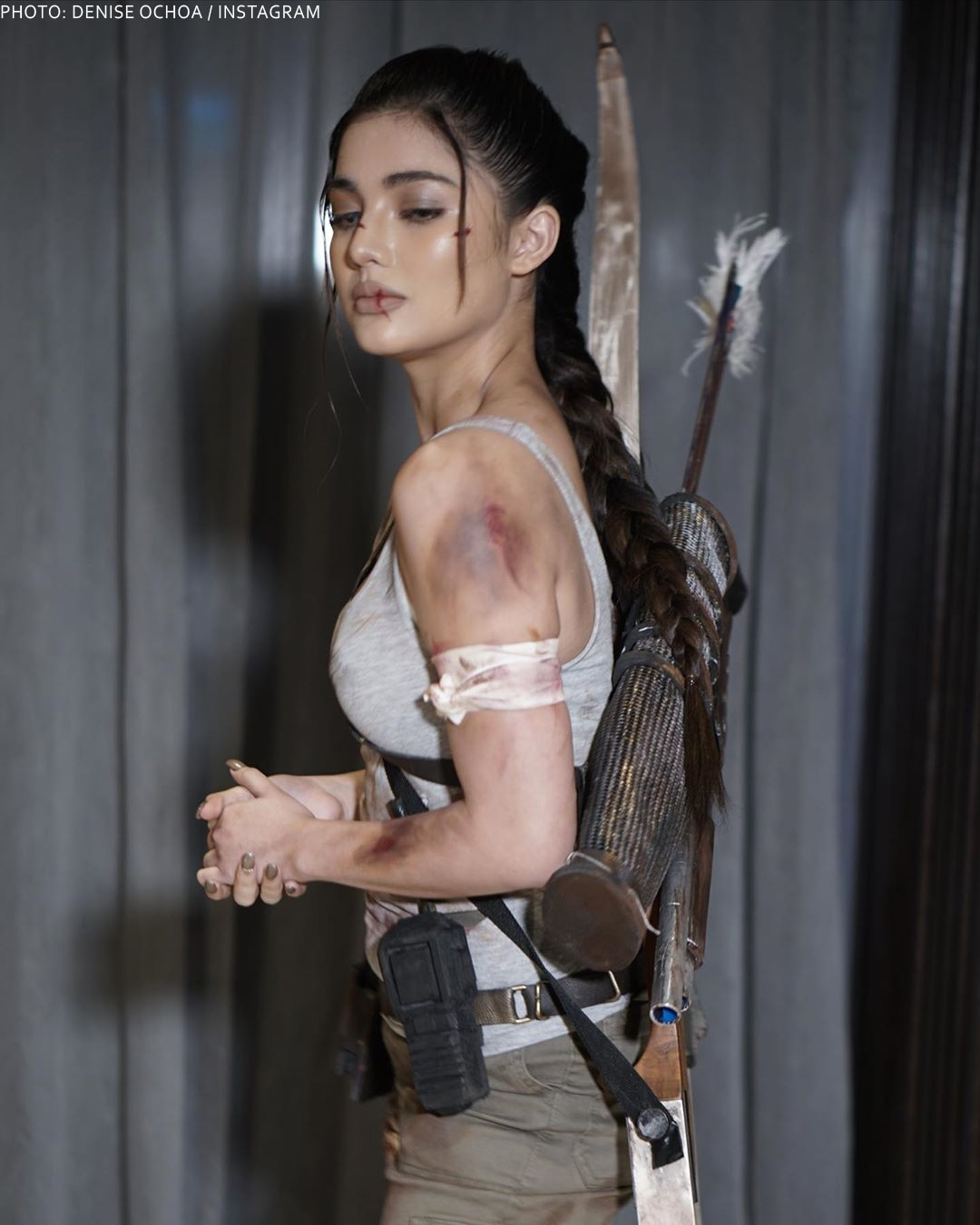 Jane de Leon in her Lara Croft getup during the Black Magic event