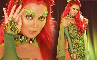 IN PHOTOS: Kathryn is hauntingly beautiful as Poison Ivy at the Black Magic 2019!