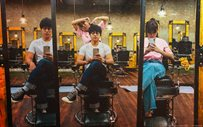IN PHOTOS: Here's a peek into Daniel and Kathryn's first barber shop!