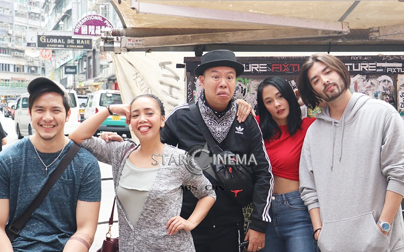 Alden, Kakai, Jeff, Lovely and Joross pose for a photo while taking a break!