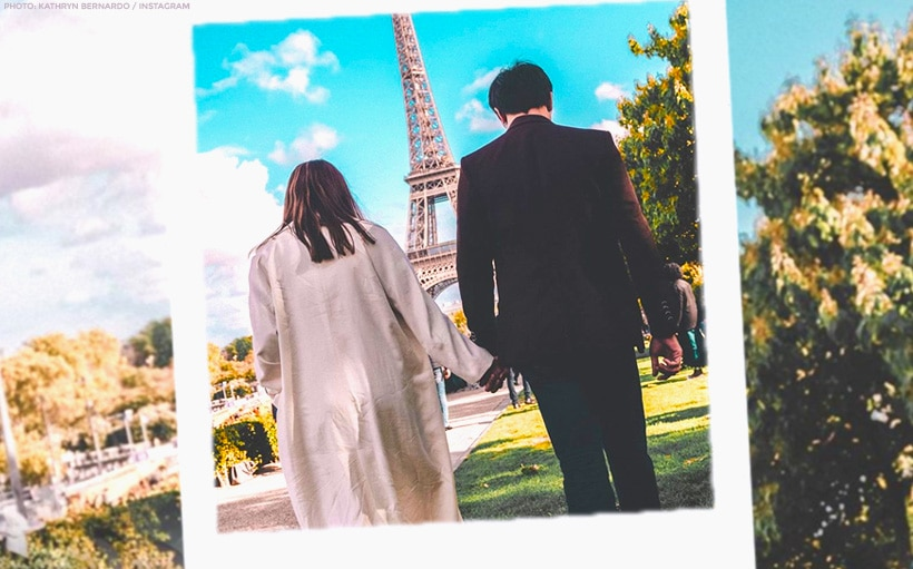 PHOTO: Kathryn and Daniel's quick side trip to Paris!