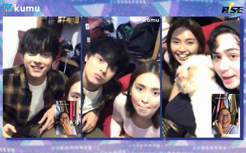 KathNiel makes an appearance on Anthony Jennings' stream from the set of 'The House Arrest of Us'!