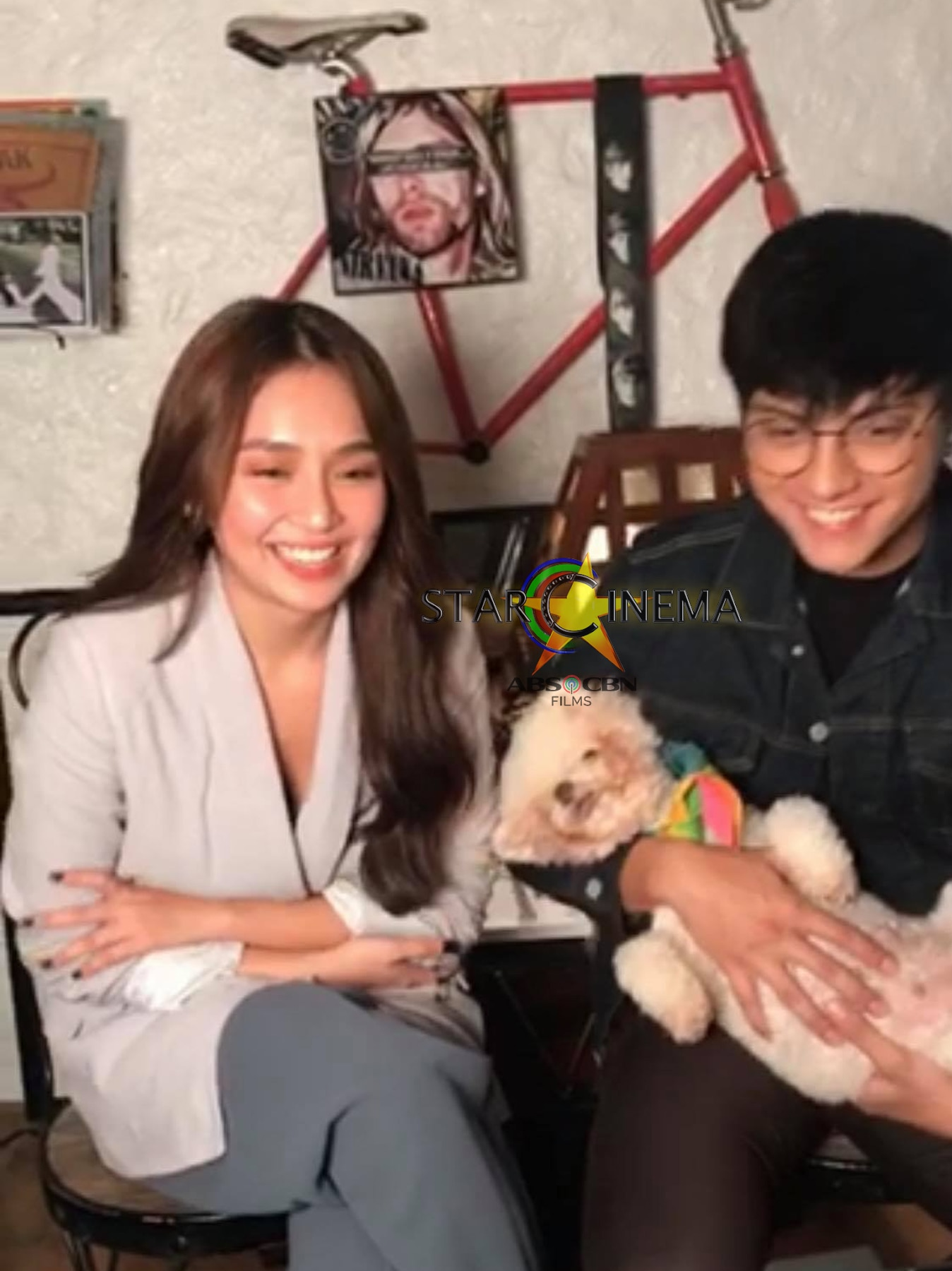 Kathryn and Daniel in 'The House Arrest of Us' Media Conference