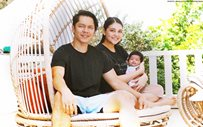 Here's Carlo Aquino's first family portrait with Trina Candaza and Baby Enola!