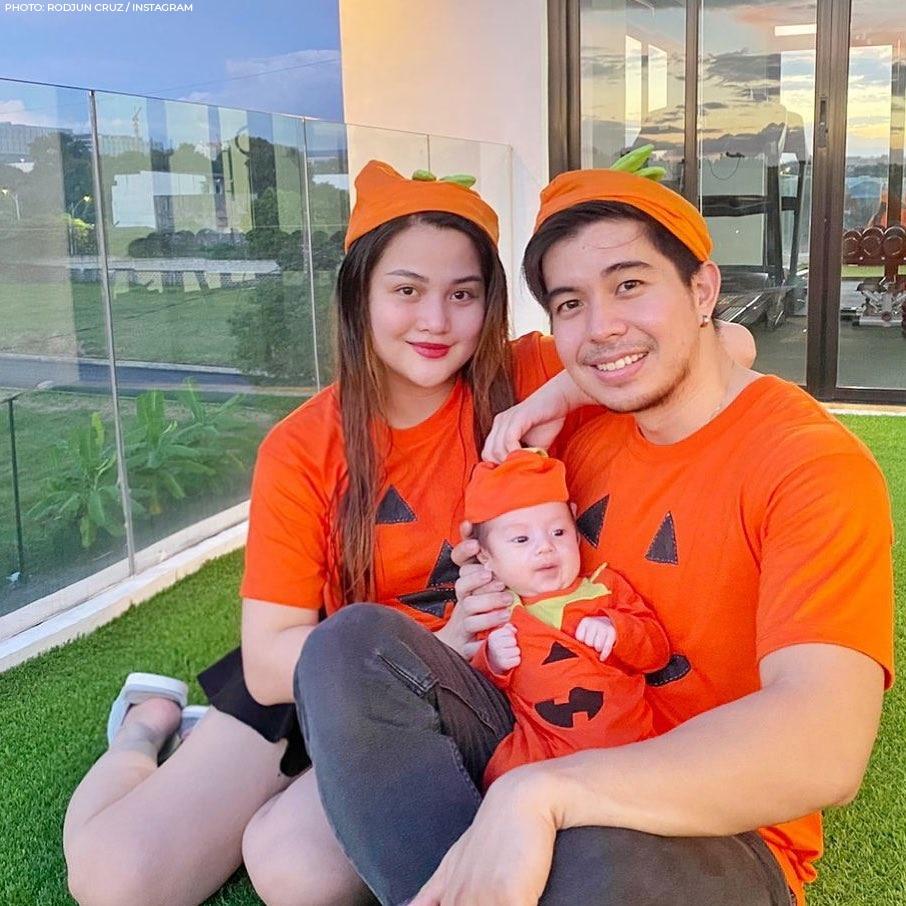 Dianne Medina and Rodjun Cruz with baby Joaquin