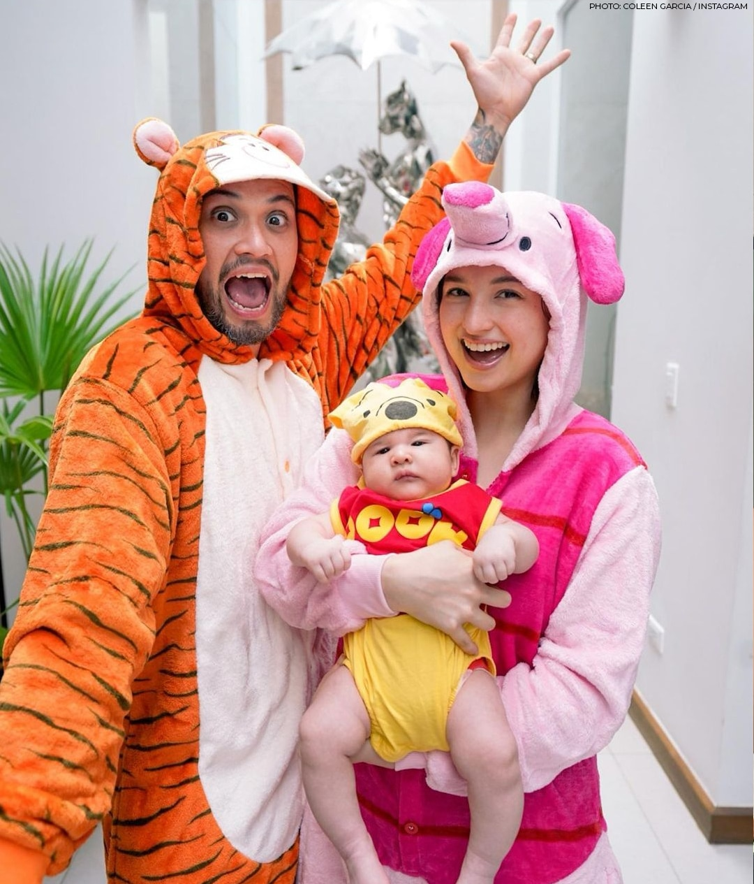 Coleen Garcia and Billy Crawford with baby Amari
