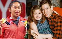 Ellie Eigenmann had a hilarious response to dad Jake Ejercito asking for Hidilyn Diaz's autograph