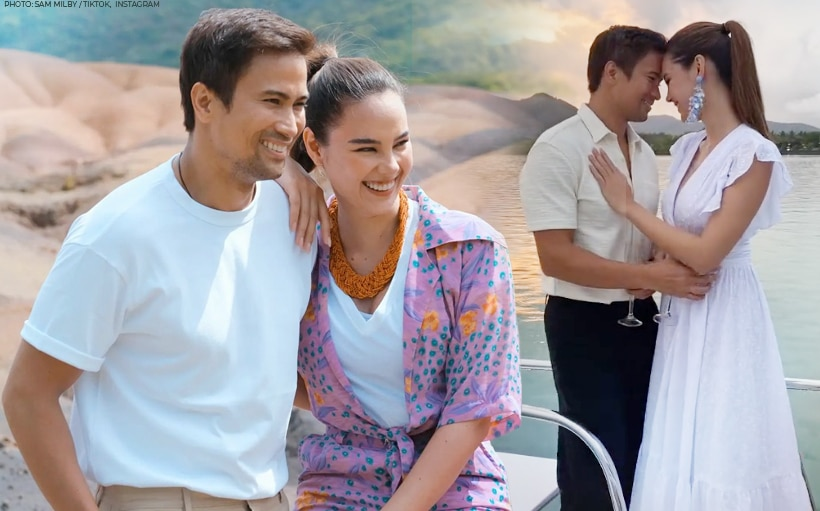WATCH: Sam Milby shares sweet travel snaps with Catriona Gray for his first TikTok video
