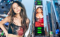 LOOK: Ylona Garcia's cover for Spotify's EQUAL playlist was flashed in Times Square, New York!