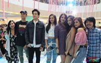 Janella, Elmo, Sofia, Diego, Jane, Maris, and Empoy at Fisher Mall for 'Bloody Crayons'