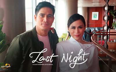 Piolo, Toni, and the creators of 'Last Night' movie at media launch