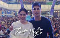 Piolo and Toni together for 'Last Night' SM City Masinag mall show