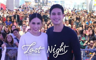 Piolo and Toni make fans happy at 'Last Night' SM City Marikina mall show