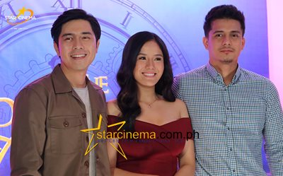Paulo, Ritz, and Ejay at 'The Promise of Forever' press conference