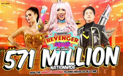 Yay! 'The Revenger Squad' is the highest-grossing Filipino film of all time!