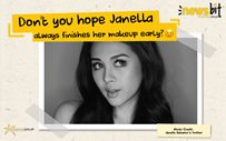 Don't you hope Janella always finishes her makeup early? 😉