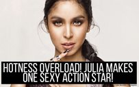 Hotness overload! Julia makes one sexy action star!