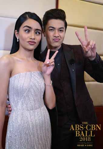 Vivoree Esclito and Hashtag Charles Kieron got playful on the red carpet! Our KierVi hearts!