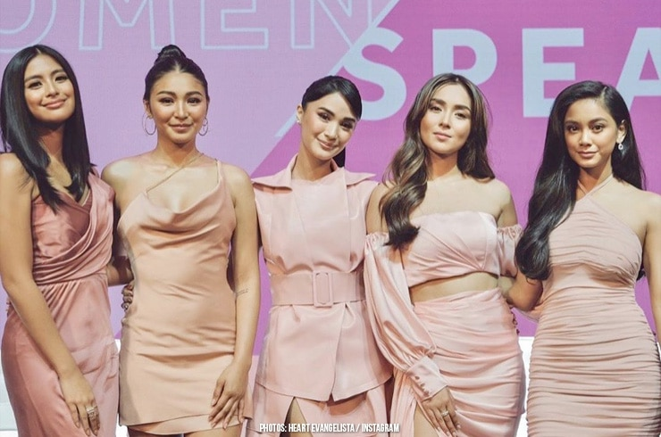 Kathryn, Heart, Nadine, Ylona, and Gabbi don their pink attires for a women empowerment event! 06