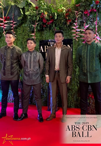 A Soldier Heart's casts, Gerald Anderson, Nash Aguas, Jerome Ponce and Yves Flores