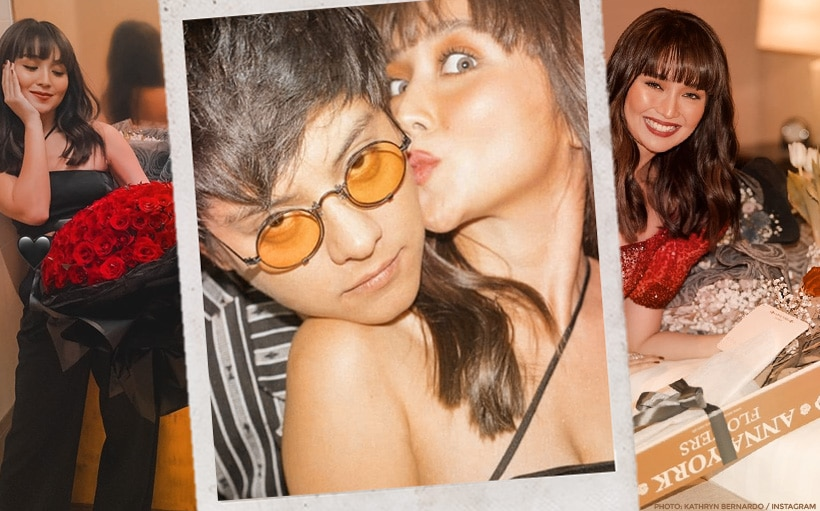 Daniel Padilla 'showers' Kathryn Bernardo with multiple bouquets at the ABS-CBN Ball 2019!