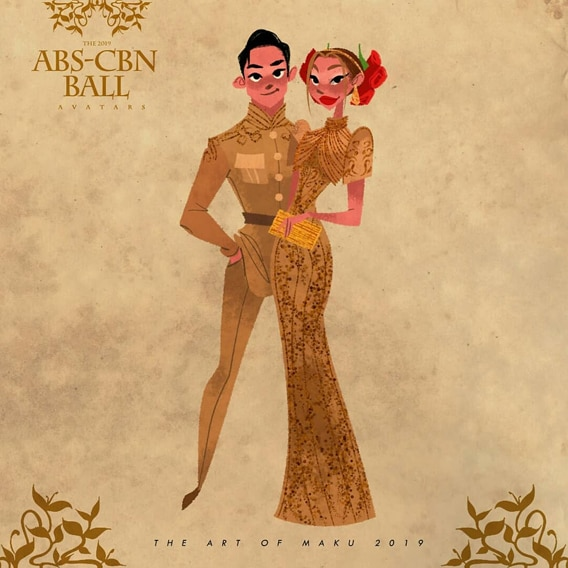 ABS-CBN Ball-inspired fan art, Maymay Entrata and Edward Barber
