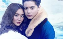 Kathryn and Daniel get cozy in Iceland's Blue Lagoon!