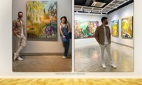 Kim Chiu shows support for Xian Lim's solo art show
