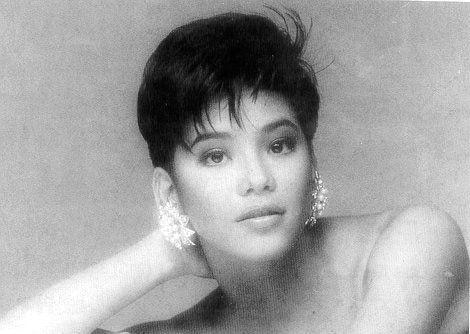 The Asia's Songbird has been doing her own makeup for 30 years now. This beauty shot is from 1990.