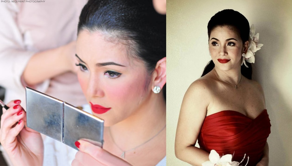 For her wedding to Ogie Alcasid in 2010, Regine was a bridechilla who even did her own makeup. She went for a bright red lipstick to match her red hot wedding gown!