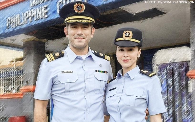 Gerald Anderson welcomes Julia Barretto to Philippine Coast Guard